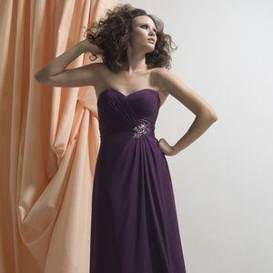 Liz Fields Bridesmaid Dress 502 Eggplant Size 10